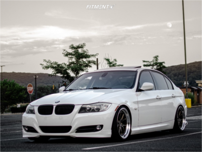 2011 BMW 328i xDrive - 18x9.5 35mm - Aodhan Ds08 - Coilovers - 215/40R18