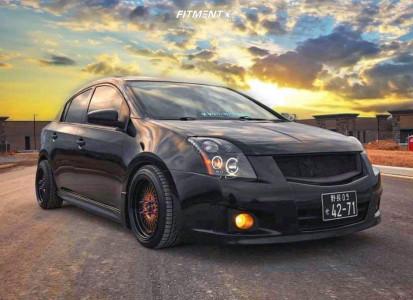2012 Nissan Sentra - 16x8.5 25mm - F1R F01 - Lowering Springs - 205/45R16