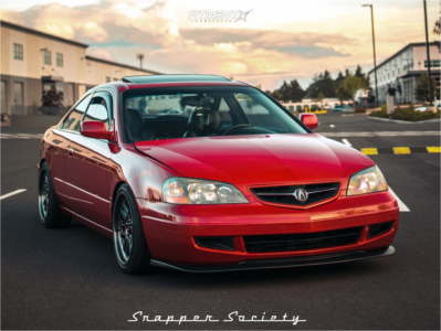 2003 Acura CL - 18x8.5 35mm - Aodhan Ah07 - Coilovers - 225/40R18