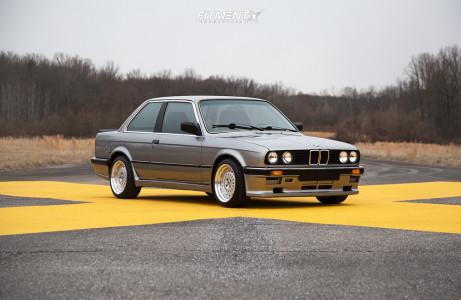 1987 BMW 325e - 16x8 20mm - ESM 015 - Lowering Springs - 205/45R16