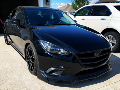 2014 Mazda 3 - 18x7.5 45mm - Enkei Edr9 - Lowering Springs - 215/40R18