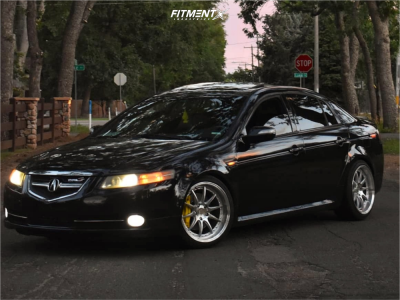 2008 Acura TL - 18x9.5 22mm - Aodhan Ds07 - Coilovers - 225/40R18
