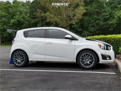2013 Chevrolet Sonic - 17x7.5 38mm - Vision Cross - Stock Suspension - 235/45R17