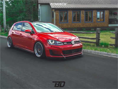 2015 Volkswagen GTI - 18x9.5 40mm - Rotiform Las-r - Air Suspension - 225/40R18