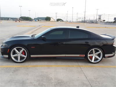 2016 Dodge Charger - 22x9 18mm - Concept One Csm-002 - Stock Suspension - 265/35R22