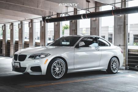2016 BMW 228i xDrive - 18x8.5 38mm - Enkei NT03 M - Stock Suspension - 225/40R18