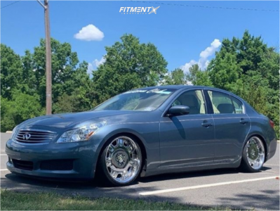 2009 Infiniti G37 - 19x8.5 28mm - Work Ls507 - Coilovers - 225/35R19