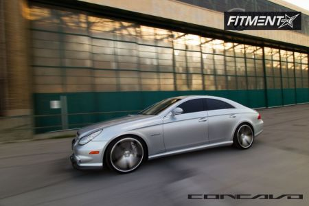 2008 Mercedes-Benz CLS550 - 20x9 38mm - Concavo Wheels CW5 - Lowered on Springs - 255/30R20