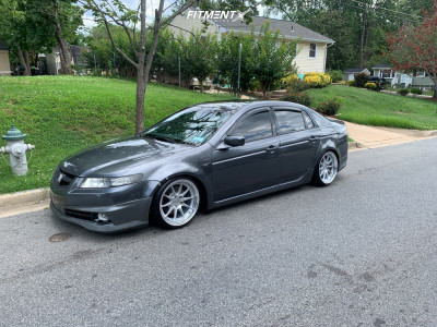 2005 Acura TL - 18x9.5 35mm - Aodhan Ds07 - Coilovers - 215/35R18