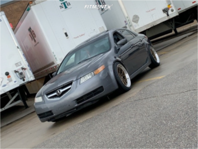 2005 Acura TL - 18x9.5 15mm - Aodhan Ds08 - Coilovers - 235/40R18