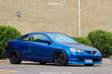 2002 Acura RSX - 17x9 22mm - Gram Lights 57DR - Coilovers - 245/40R17