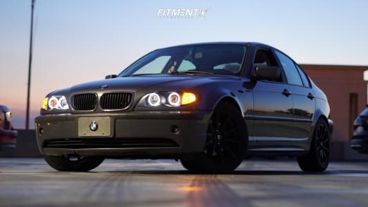 2002 BMW 325i - 17x8.5 35mm - Motegi Mr127 - Stock Suspension - 245/45R17