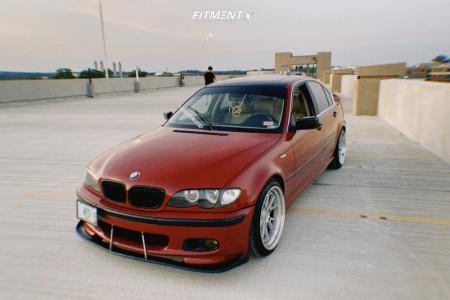 2004 BMW 330xi - 18x9.5 35mm - Aodhan Ds08 - Lowering Springs - 225/40R18