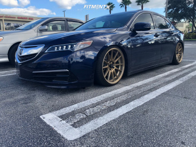 2017 Acura TLX - 19x9 35mm - Cosmis Racing R1 - Coilovers - 225/35R19