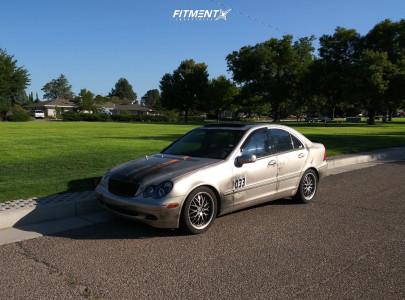 2001 Mercedes-Benz C240 - 17x7.5 35mm - Kudo Racing Revolution - Lowering Springs - 225/45R17
