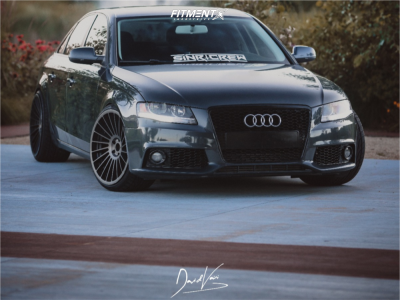 2011 Audi A4 Quattro - 20x10.5 27mm - Rotiform Ind-t - Coilovers - 255/30R20