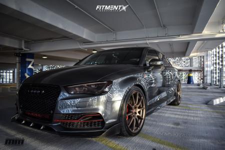 2015 Audi S3 - 19x9 40mm - Neuspeed Rse102 - Lowering Springs - 255/35R19