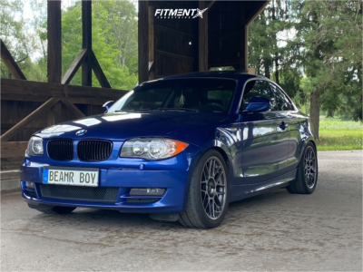 2011 BMW 128i - 18x8.5 45mm - Apex Arc-8 - Coilovers - 255/45R18