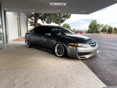 2004 Acura TL - 18x9.5 10mm - Cosmis Racing XT-206R - Coilovers - 225/35R18