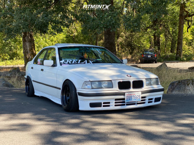 1993 BMW 325i - 15x8 -14mm - Bart D Window - Coilovers - 165/55R15