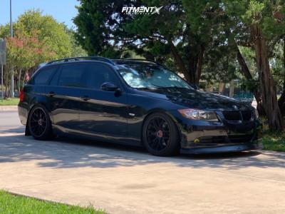 2008 BMW 328xi - 18x9.5 35mm - Hard Motorsport Center Lock Wheels - Coilovers - 255/35R18