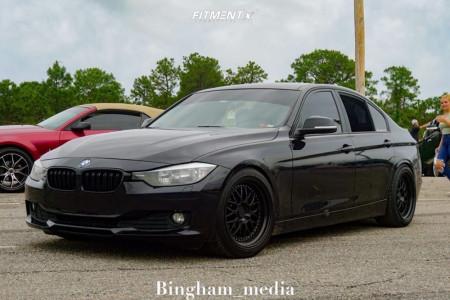 2014 BMW 328d xDrive - 18x9.5 35mm - ESR Sr05 - Lowering Springs - 245/40R18