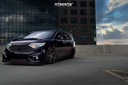 2011 Nissan Quest - 20x9.5 35mm - KMC Km685 - Coilovers - 245/40R20