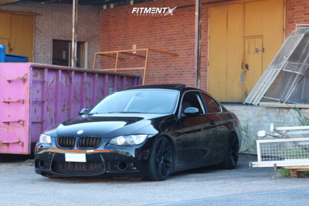 2008 BMW 3 Series - 19x9 30mm - Haxer HX020 - Coilovers - 215/35R19