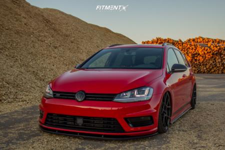 2015 Volkswagen Golf - 19x8.5 45mm - Rotiform Kps - Air Suspension - 225/35R19