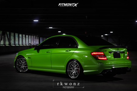 2014 Mercedes-Benz C63 AMG - 19x8.5 45mm - HRE 590rs - Lowering Springs - 235/35R19