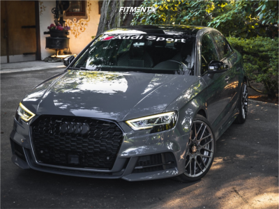 2017 Audi S3 - 19x8.5 35mm - Rotiform Rse - Stock Suspension - 235/35R19
