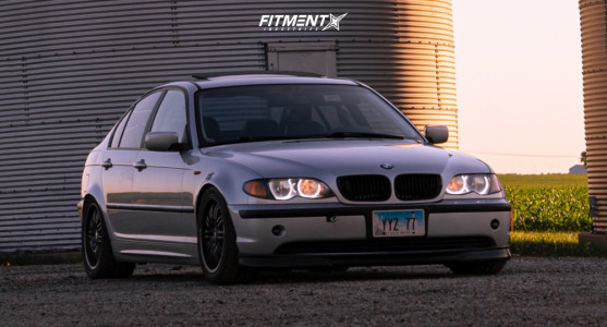 2002 BMW 325i - 17x9.5 30mm - BMW Style 67 - Coilovers - 235/45R17