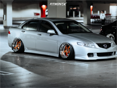 2004 Acura TSX - 18x9 -0mm - Work Meister S1 3P - Air Suspension - 215/35R18