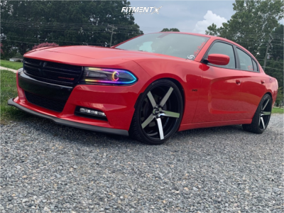2015 Dodge Charger - 22x9 15mm - STR 607 - Lowering Springs - 255/35R22