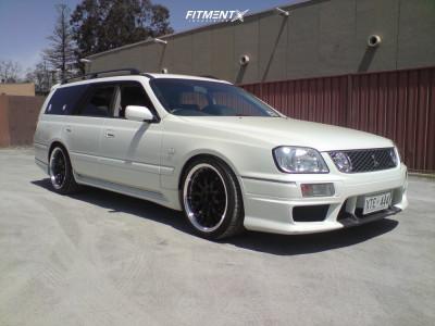 2000 Nissan C34 Stagea - 18x9.5 15mm - Speedy Cheetah - Coilovers - 235/40R18