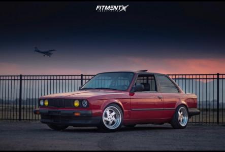 1986 BMW 325es - 16x8 25mm - AVID1 AV19 - Coilovers - 215/45R16