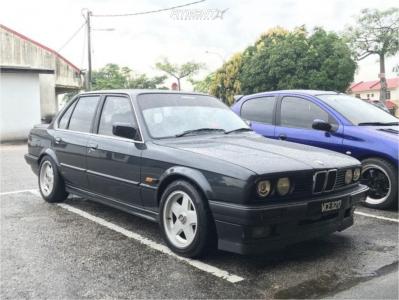 1991 BMW 318i - 15x7 15mm - Ronal R15 - Lowering Springs - 195/55R15