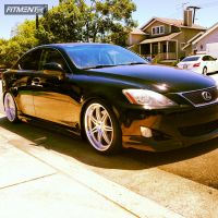 2006 Lexus IS250 - 19x8 28mm - Linea Corse Dyna - Lowered Adj Coil Overs - 235/35R19