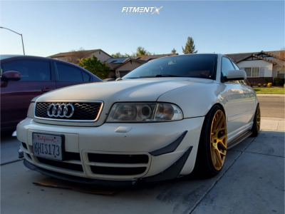 2001 Audi S4 - 18x9 35mm - Aodhan Ls002 - Coilovers - 225/35R18