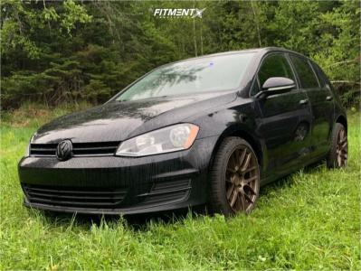 2015 Volkswagen Golf - 18x8.5 35mm - Aodhan Ah-x - Lowering Springs - 215/40R18