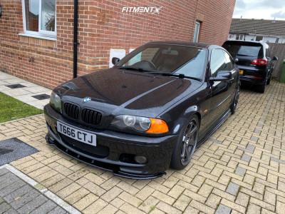 2001 BMW 325Ci - 18x8.5 35mm - Bola B1 - Coilovers - 225/40R18