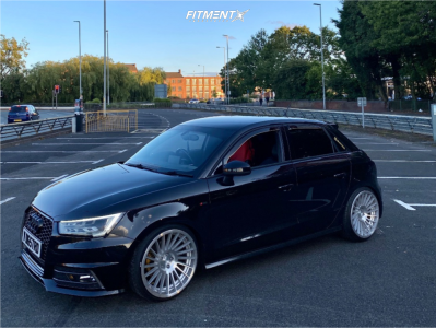 2015 Audi A3 - 18x9.5 35mm - Rotiform Ind-t - Coilovers - 215/35R18