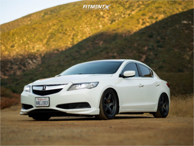 2013 Acura ILX - 17x9 38mm - Gram Lights 57cr - Coilovers - 245/40R17