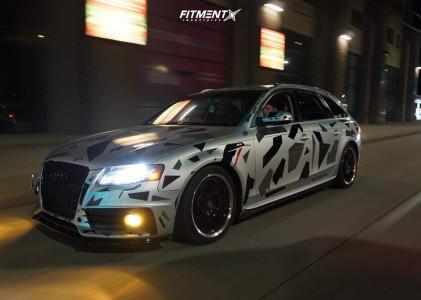 2012 Audi A4 Quattro - 18x8 45mm - Enkei Lusso - Lowering Springs - 225/40R18
