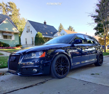2013 Audi A3 - 18x8.5 45mm - Enkei Tms - Coilovers - 235/40R18