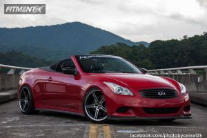 2009 Infiniti G37 - 20x9 25mm - Concept One CS 5.0 - Lowered on Springs - 245/35R20