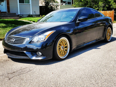 2012 Infiniti G37 - 19x9.5 35mm - Rotiform Lsr - Lowering Springs - 225/30R19