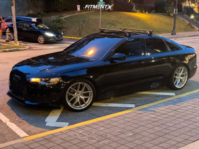 2015 Audi A6 - 19x8.5 40mm - Rotiform Flg - Coilovers - 235/40R19