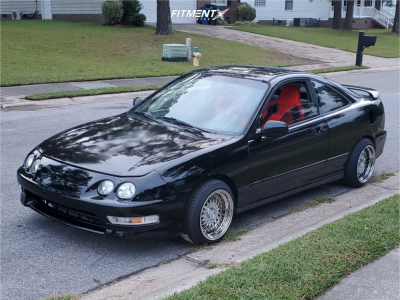 1998 Acura Integra - 15x9 10mm - ESM 002r - Coilovers - 195/45R15