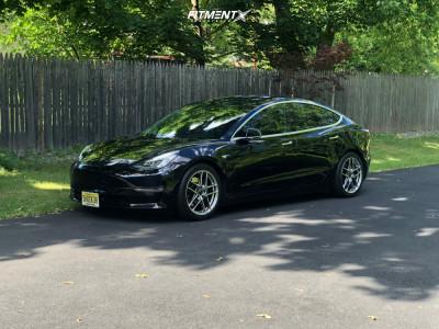 2020 Tesla 3 - 18x8.5 50mm - Enkei Ty5 - Lowering Springs - 245/40R18